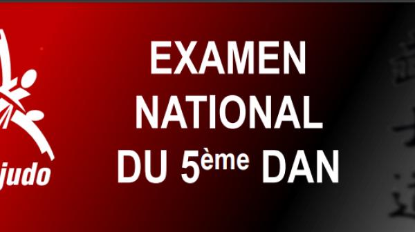 Résultats Examen National 5ème DAN